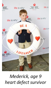 Mederick, age 9, heart defect survivor