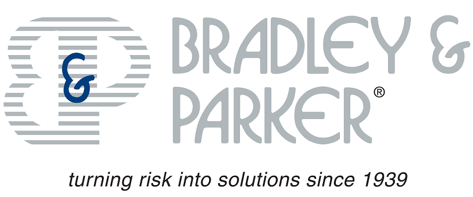 Bradley and Parker Logo Turning risk into solutions since 1939